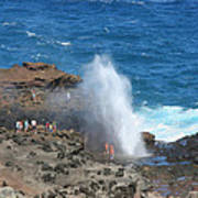 Ocean Blowhole In Maui Poster