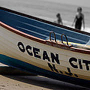 Ocean City Nj Iconic Life Boat Poster