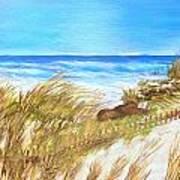 Ocean Fence Poster