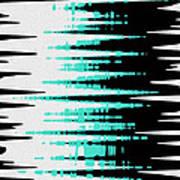 Ocean Gentle Waves Abstract Digital Painting Poster by Georgeta Blanaru