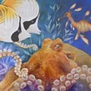 Ocean Hang Out Poster by Summer Celeste