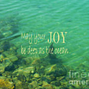 Ocean Of Joy Poster by Irina Wardas