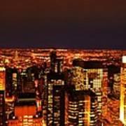 Ocean Of Light New York City Usa Poster