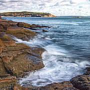 Ocean On The Rocks Poster