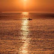 Ocean Sunrise At Montauk Point Poster