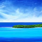 Ocean Tropical Island Poster