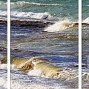 Ocean Waves Triptych Poster