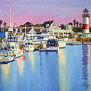 Oceanside Harbor At Dusk Framed Print By Mary Helmreich