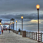 Oceanside Pier At Sunset Poster