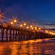 Oceanside Pier Evening Poster