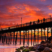 Oceanside Sunset 12 Poster