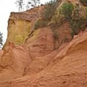 Ochre Rocks Roussillon  Poster