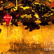 Ochre Wall Silk Lantern 01 Poster