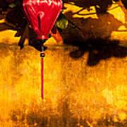 Ochre Wall Silk Lantern 03  Poster