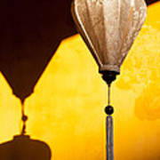 Ochre Wall Silk Lanterns  Poster