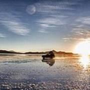 Off Road Uyuni Salt Flat Tour Dramatic Poster