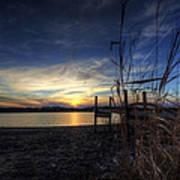 Off Season Sunset At The Lake Poster