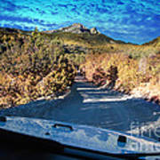 Offroad Driving View From Inside The Car Poster