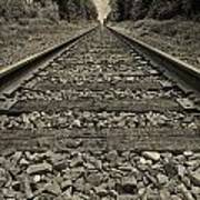 Ohio Train Tracks Poster