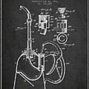 Oil Can Patent From 1903 - Dark Poster