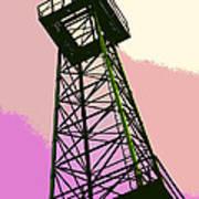 Oil Derrick In Pink Poster