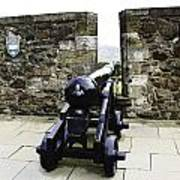 Oil Painting - Cannons And Cannon Balls At Walls Of Stirling Castle Poster