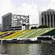 Oil Painting - Floating Platform In The Marina Bay Area In Singapore Poster