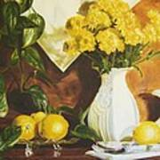 oil painting print of art for sale Golden Lemons  Poster