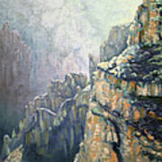 Oil Painting - Majestic Canyon Poster