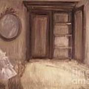Oil Painting Of A Bedroom/ Digitally Painting Poster