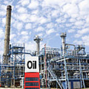 Oil Refinery And Industries Poster