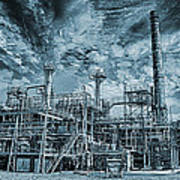 Oil Refinery In High Definition Poster