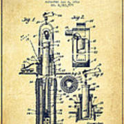 Oil Well Pump Patent From 1912 - Vintage Poster