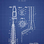 Oil Well Reamer Patent From 1924 - Blueprint Poster