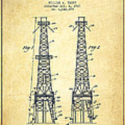 Oil Well Rig Patent From 1927 - Vintage Poster