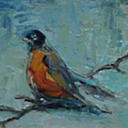 Oklahoma Robin Poster by Susie Jernigan