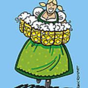 Oktoberfest Beer Waitress Dirndl Poster