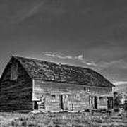 Old Abandoned Barn - D Rd Nw - Douglas County - Washington - May 2013 Poster