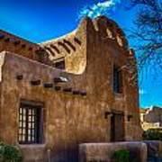 Old Adobe Building Santa Fe New Mexico Poster