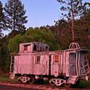 Old And Weathered Caboose Poster
