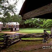 Old Appalachian Barn Yard Poster