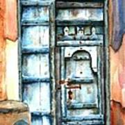 Old Arabian Door Poster