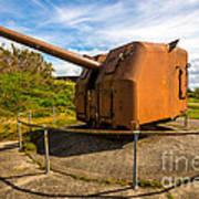 Old Artillery Gun - Ft. Stevens - Oregon Poster