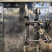 Old Bank Vault In Historic Building Poster