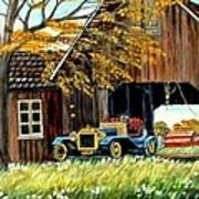 Old Barn And Old Car Poster