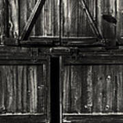 Old Barn Door - Bw Poster