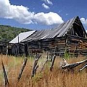Old Barn Las Trampas New Mexico Poster