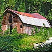 Old Barn Near Chimney Rock Poster