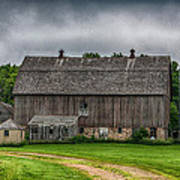 Old Barn On A Stormy Day Poster