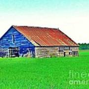 Old Barn On Treaty Road Oakhill Kansas Poster